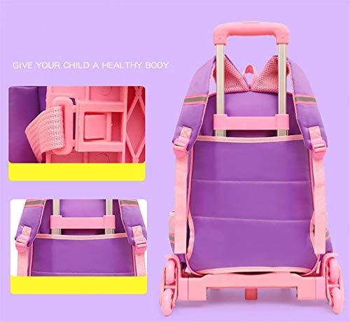 Des Amovible coloré B Mignonnes Imperméable L'eau Lunch Sac Chariot 828 Taille A À Enfants Eeayyygch 32 2pcs Dos Réfléchissant L'école Filles UPInxq0T