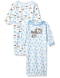 Quiltex Boys Charming Little Guy Sleeper Gowns 2 Pack Set Sleepers