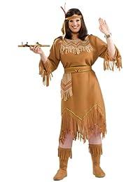 Forum Novelties Women's Native American Indian Maid Plus Size Costume