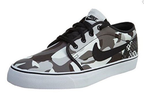 Nike Toki Low Print, White/Black-Dark Grey Wolf, Size 13