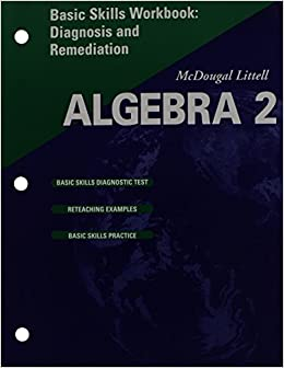 Book McDougal Littell High School Math: Basic Skills Workbook: Diagnosis and Remediation (Student) Algebra 2