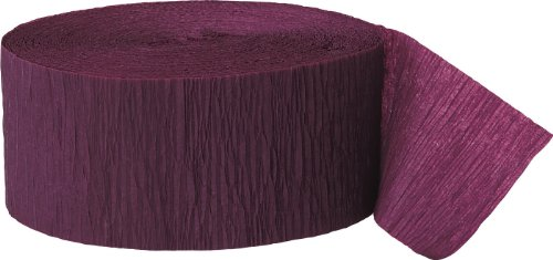 81ft Burgundy Crepe Paper Streamers (Burgundy Spiral)