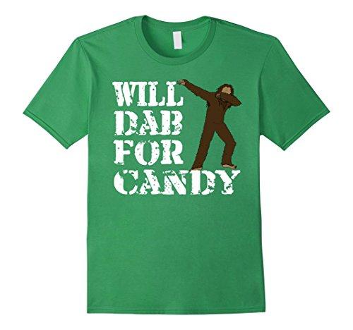 Dance Costumes Ideas For Hip Hop (Mens Funny Bigfoot Dab T-Shirts - Dabbing Sasquatch Hip Hop Dance Small Grass)