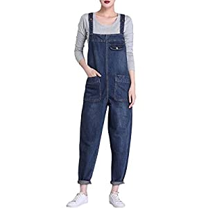 LATUD Women's Loose Overall Jeans