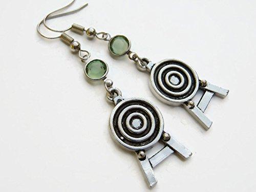 Amazon com: Archery Target Birthstone Earrings, Personalized