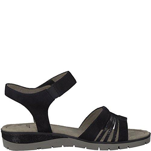 Black 28609 8 SOFTLINE 20 Jana Ladies 001 Sandals by Schwarz pUXAA8q6