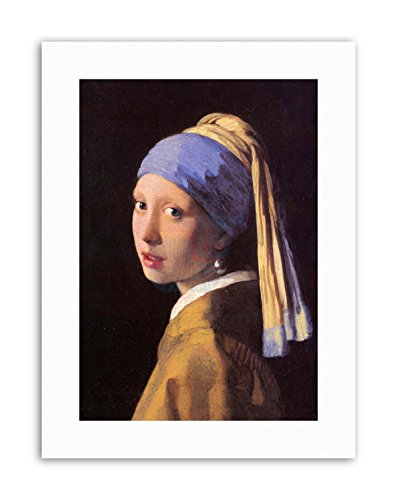 Wee Blue Coo Johannes Vermeer Girl with Pearl Earring Painting Old Master Canvas Art Prints (Johannes Vermeer Girl With A Pearl Earring Value)
