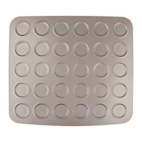 Whoopie Pie Pan (MyLifeUNIT 30 Cavity Carbon Steel Whoopie Pie Pan, Non Stick Macaron Baking Sheet, 11