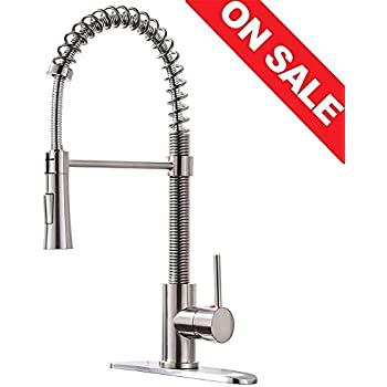 Commercial Pull Down Sprayer Kitchen Sink Faucet Modern Stainless
