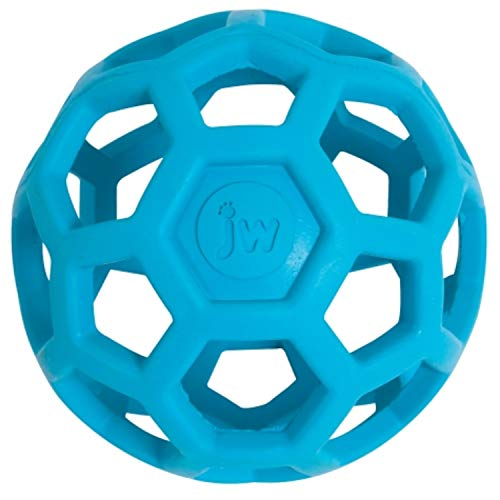 JW Hol-ee Roller Original Treat Dispensing Dog Ball – Hard Natural Rubber – Assorted Colors, Small