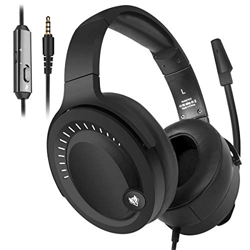 NUBWO Gaming Headset, Over Ear Stereo Gaming Headphones with Uni-Directional Microphone for PC, Computer, Laptop, PS4, Xbox One, Nintendo Switch, Mac, iPad
