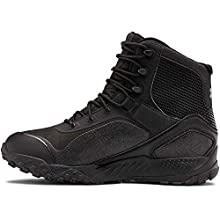 Under Armour Men's Valsetz RTS 1.5 Waterproof Military and Tactical Boot, Black (001)/Black, 14