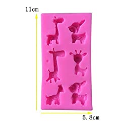 Youzpin Forest Animals Silicone Mold, Giraffes,Dee