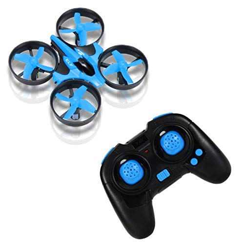 Hobbylane Mini Drone for Kids, Headless Mode Nano Drone 2.4Ghz 6-Axis Gyro with 3D Flips and LED Lights RC Quadcopter, Small Pocket Drone Gifts for Adults & Beginners (Blue)