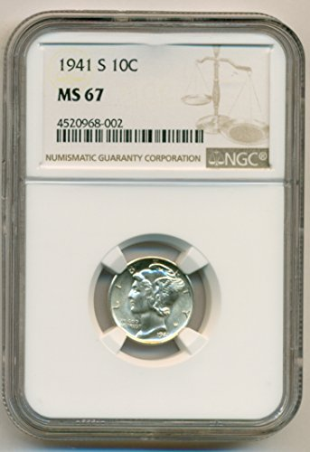 1941 S Mercury Dime MS67 NGC