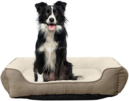 HACHIKITTY Durable Medium Dog Bed Rectangle,Machine Washable Dog Bed Large,30 Inch Dog Bed for Large Dogs