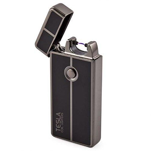 Tesla Coil Lighters™ USB Rechargeable Windproof Arc Lighter (1. Gun Metal)