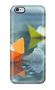 Art Marie Johnson Snap On Hard Case Cover Colorful Paper Boats Protector For Iphone 6 Plus