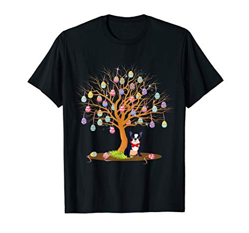 Funny French Bulldog Easter Eggs Tree Bunny T-Shirt Gifts