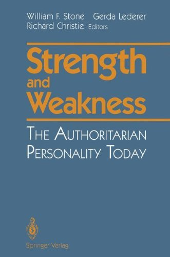 Download Strength and Weakness: The Authoritarian Personality Today Pdf