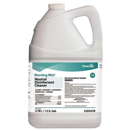 Diversey 5283038 Morning Mist Neutral Disinfectant Cleaner Fresh Scent 1gal Bottle (Morning Mist)