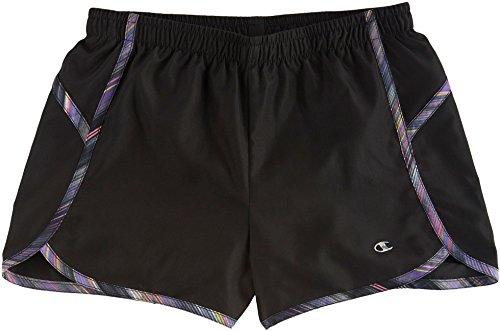 Champion Big Girls Tonal Block Running Shorts Medium Black (Girls Champion Clothes compare prices)