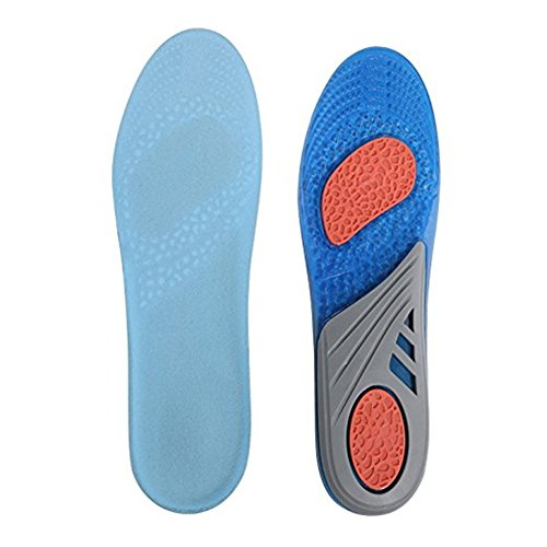 Insoles Comfort Shoe Inserts Shock Absorption Silicone Gel Sports Insoles Pain Relief Shoe Soles (L:7-13) by Espcheap