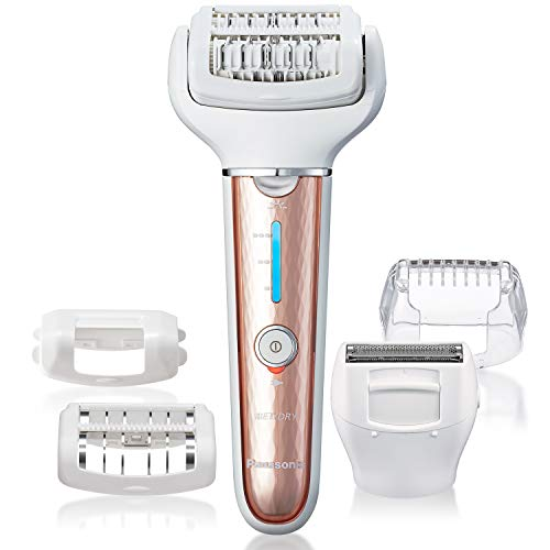 Panasonic Cordless Shaver & Epilator For Women With 5 Attachments, Gentle Wet/Dry Hair Removal for Legs, Underarms, Bikini, Face - ES-EL7A-P