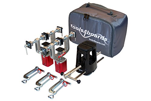 Tools4Boards FIX One Ski and Snowboard Vise, Black/Silver