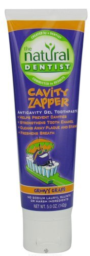 Natural Dentist - Cavity Zapper Anticavity Gel Toothpaste Groovy Grape - 5 oz by Natural Dentist