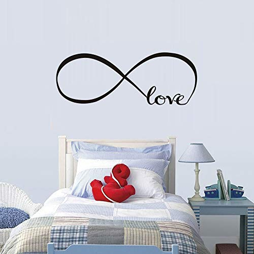 WOVTCP Love Infinity Symbol Bedroom Wall Decal Quote Vinyl Sticker Decals Mural Art Home Decor Infinity Loop Vinyl Lettering Bedroom Decor