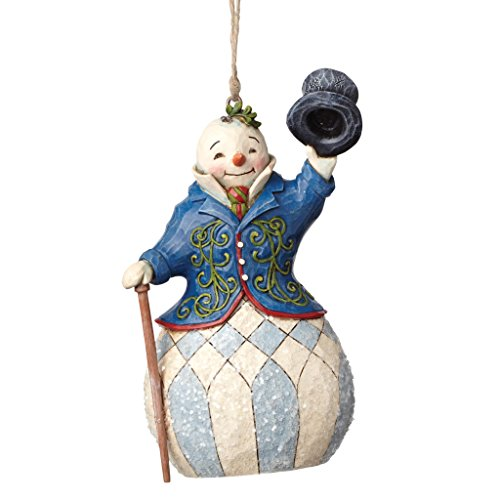 Jim Shore Heartwood Creek Victorian Santa Stone Resin Hanging Ornament, 5.125
