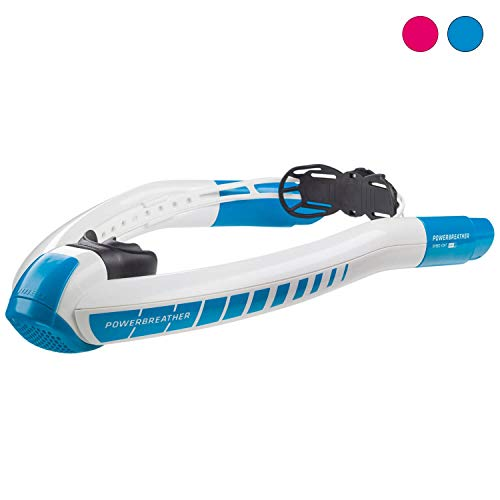 POWERBREATHER Sport Snorkel (Blue) - Complete Swim - 100% Fresh Air and 100% Dry