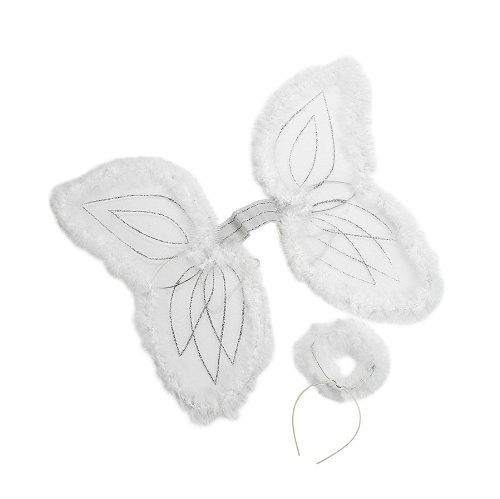 White Marabou Angel Wings Headband product image