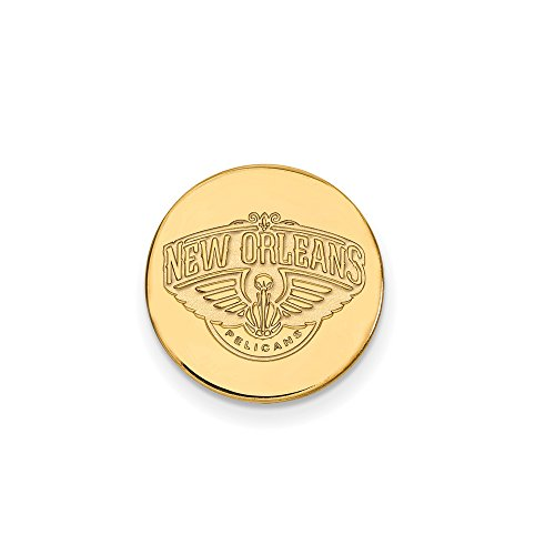 NBA New Orleans Pelicans Lapel Pin in 14K Yellow Gold by LogoArt