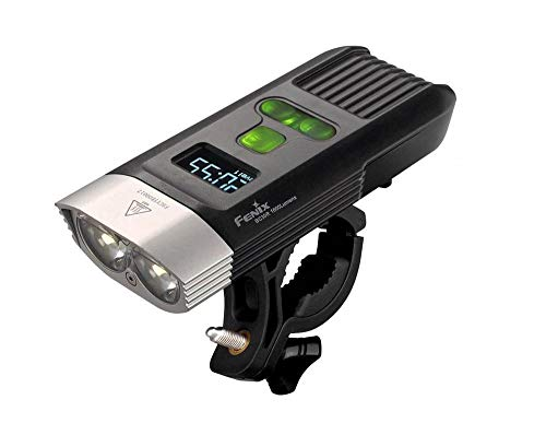 Fenix BC30R 1600 Lumens LED Bike Light, OLED display screen for the rest runtime and the battery percentage, Built in 5200mAh rechargeable battery with LegionArms USB charging cord