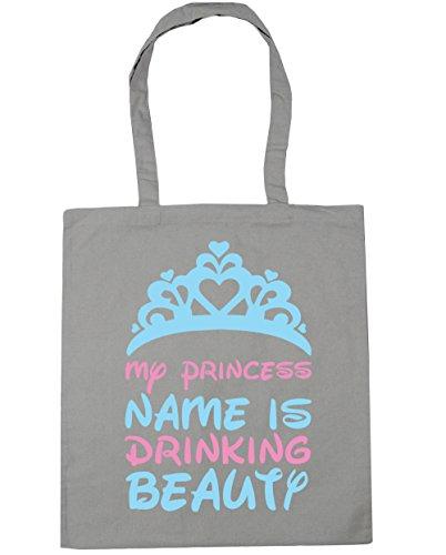 Bag drinking princess Light beauty is 10 x38cm Gym Tote Beach 42cm Grey name litres HippoWarehouse My Shopping nTqxZH5v