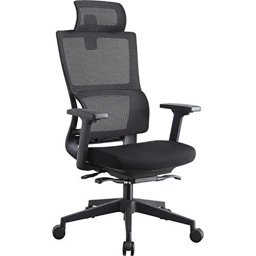 Lorell LLR81998 High Back Mesh w/Headrest Chair Black