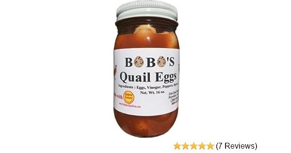 a5e0097e98b3 Amazon.com : Bobo's Cajun Style Pickled Quail Eggs - 2 pint jars ...