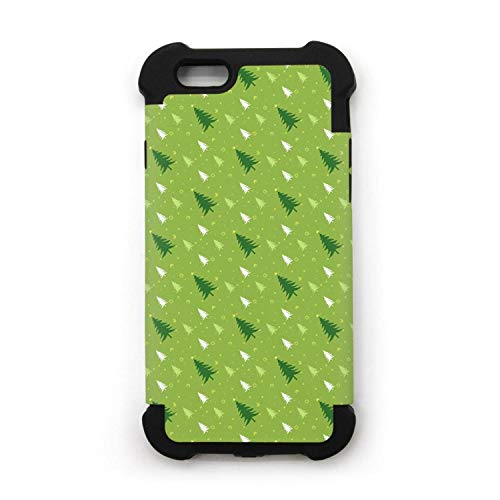Green Christmas Tree iPhone 6/iPhone 6s Case Shock proof/Anti-Scratch/Anti-Finger/Double Protection Phone Case for iPhone 6/iPhone - Fig Silk Trees