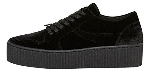 Windsor Smith Damen Sneaker Rollkragen Oracle Velvet, Schwarz (Nero), 38 (Herstellergröße:)
