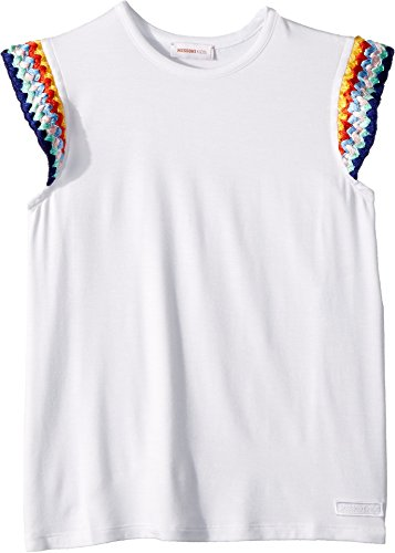 Missoni Kids Girl's Jersey T-Shirt (Big Kids) White 8-9 by Missoni Kids