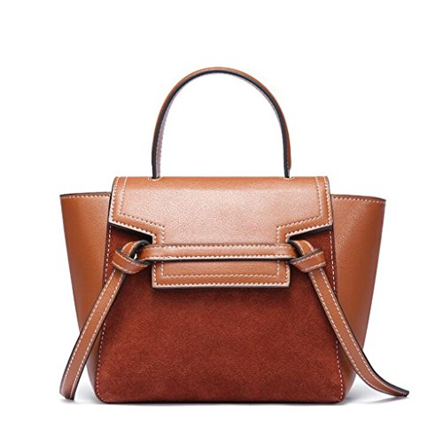 Totalizador Bolso de Señora Scrub Shoulder Bag Wings Messenger Bag (Tamaño: 21 * 11 * 18cm) (Color : Black) Caramel