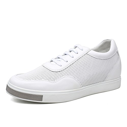 CHAMARIPA H71C26K173D Men's Height Increasing Casual Sneakers Elevator Shoes 2.36'' Taller (9 D(M),White) by CHAMARIPA