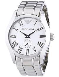 Emporio Armani Men's AR0647 Classic Stainless Steel Silver Dial Quartz Watch
