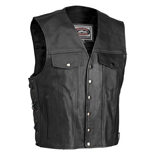 River Road Mens Frontier Classic Leather Vest - 3X-Large