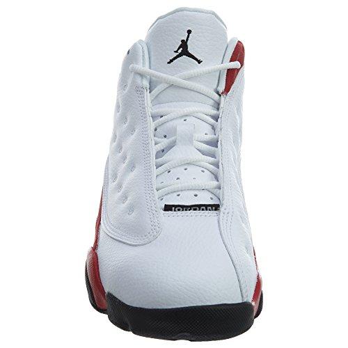 Nike Air Jordan Xiii (13) Retro (bambini) Bianco / Nero-vero Rosso-freddo Grigio