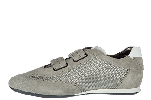 Hogan Scarpe Sneakers Uomo Camoscio Nuove Olympia Grigio