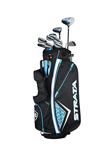 Callaway Women's Strata Plus Complete Golf Set (14-Piece, Right Hand, Teal) 8 Piece Package Set