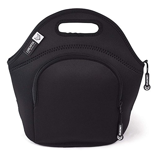 LunchFox Eco-Friendly Neoprene Lunch Bag Tote for Adults , B